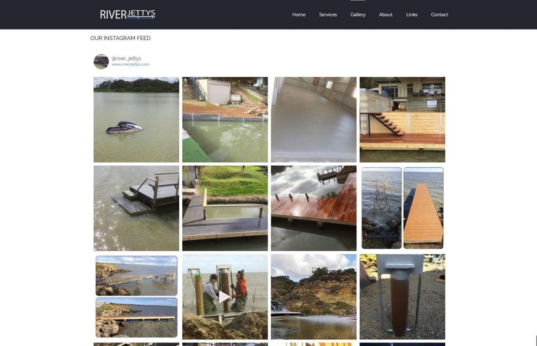 Screenshot of RiverJettys website