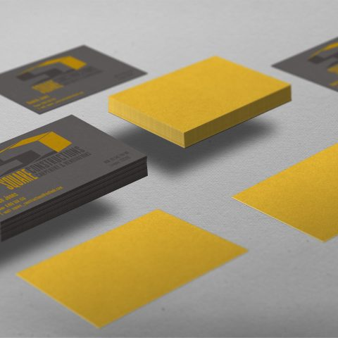 Mockup of business cards printed for customer